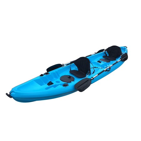 BKC UH TK219 12 Foot Tandem Sit On Top Kayak 2 Or 3 Person With