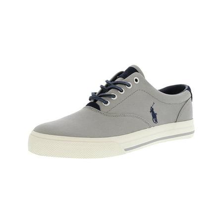 - Polo Ralph Lauren Men's Vaughn-Sk-Vlc Canvas/Tattersall New Glacier Ankle-High Canvas Fashion Sneaker - 8M