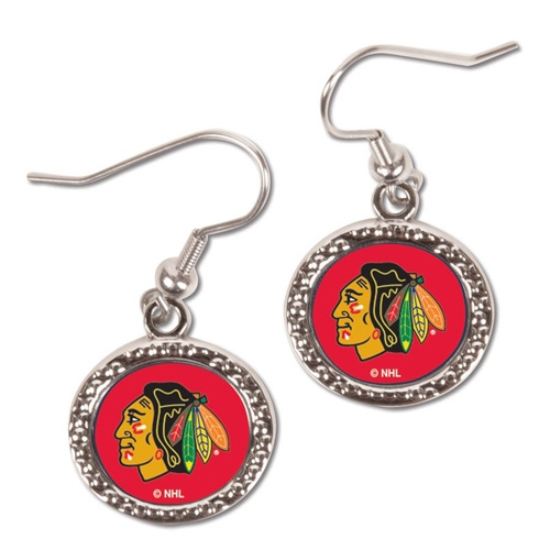 Chicago Blackhawks WinCraft Women's Round Dangle Earrings - No Size