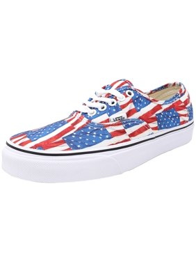 04ac4af1d6 Product Image Vans Authentic Free Flag Red   True White Ankle-High Canvas Fashion  Sneaker - 8M