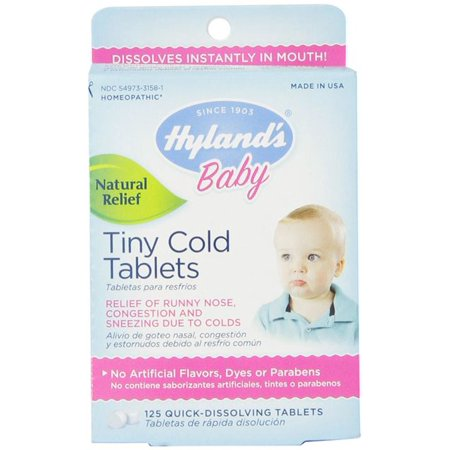 Hylands Homeopathic Baby Tiny Cold Tablets 125 Tablets