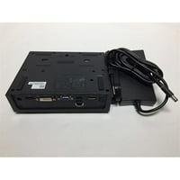 Refurbished Dell Pro3x USB 2.0 E-Port Replicator with 130-Watt Power Adapter Cord (Black)
