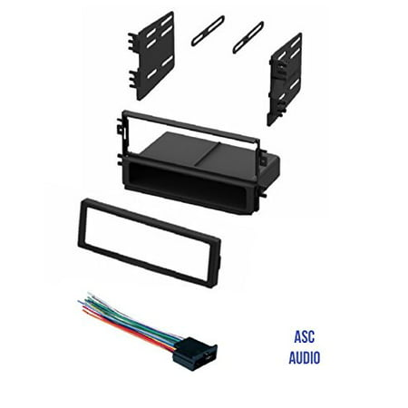 Kia Spectra Radio - ASC Audio Car Stereo Radio Dash Kit and Wire Harness for installing a Single Din Radio for 2001 - 2002 Kia Rio, 2002 Kia Sedona, 1998 - 2001 Kia Sephia, 2000 - 2002 Kia Spectra, 1998-2003 Kia Sportage