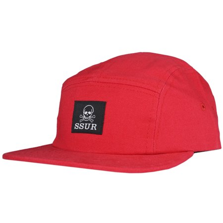 Control Camber - SSUR Controlled Substance Camper Hat Strapback Red Adjustable Headwear Cap