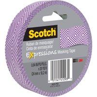 """Scotch Expressions 0.94""""x20 Yd Purple Mosaic Masking Tape"""