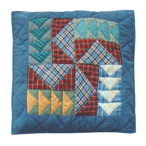 Patch Magic Fall Windmills Cotton Throw Pillow