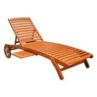 International Caravan Royal Tahiti Wooden Multi-Position Chaise Lounge