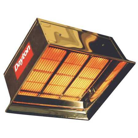 Commercial Infrared Heater,NG,90,000 DAYTON 3E134