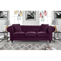 Product Image Clic Velvet Scroll Arm Tufted On Chesterfield Sofa Red