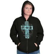 Jesus Womens Zipper Hoodies Sweat Shirts Faith Hope Love Christian Religious