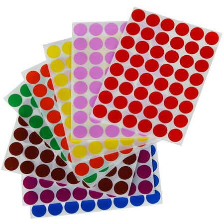 Color Dot stickers ~ 3/4