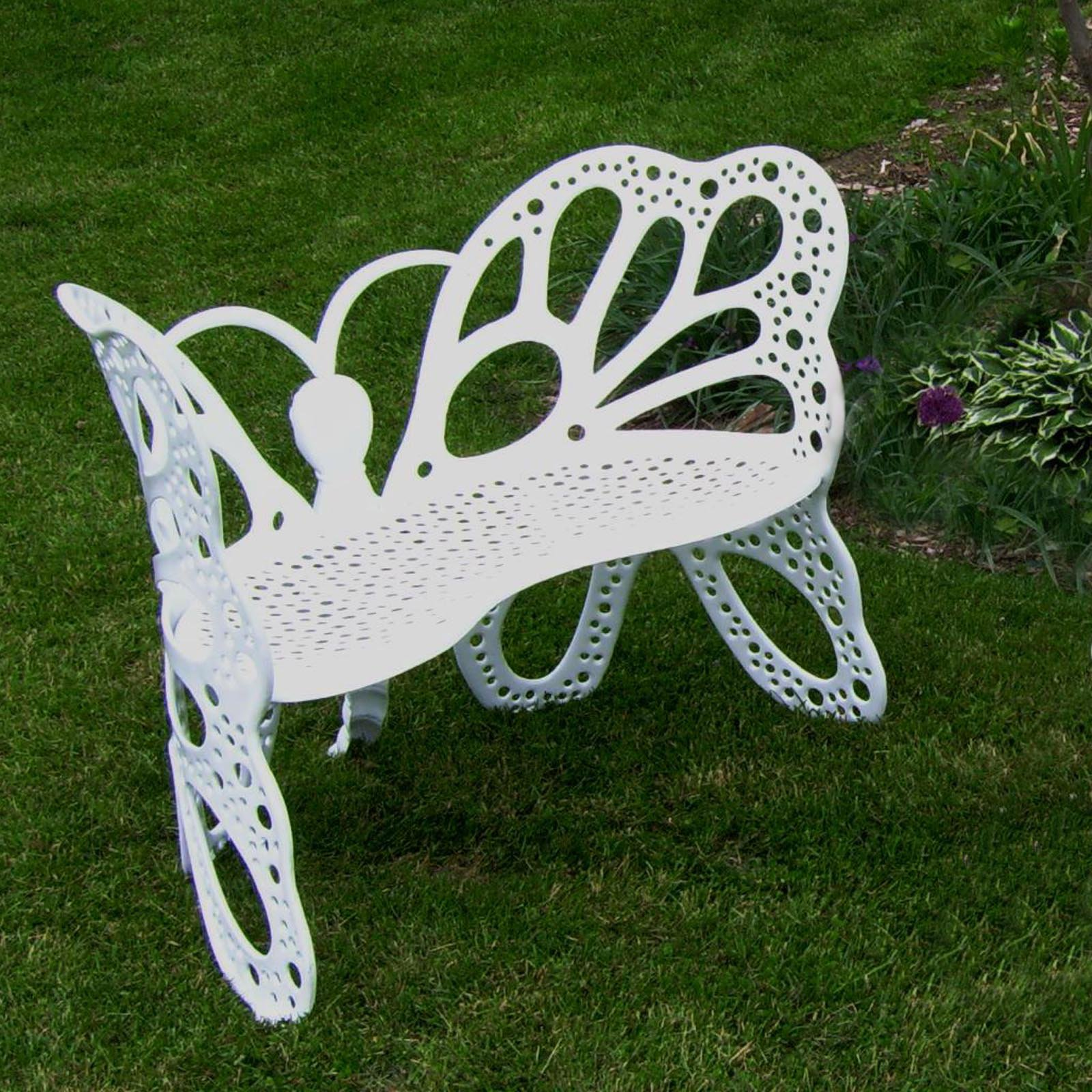 FlowerHouse Outdoor Butterfly Bench, Multiple Colors