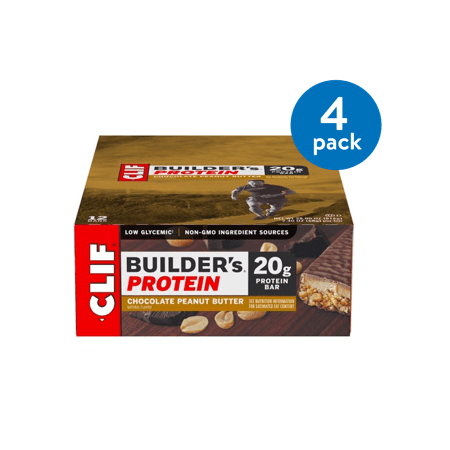 Body Shake Chocolate Peanut Butter - (4 Pack) Clif Builder's Protein Bar, Chocolate Peanut Butter, 20g Protein, 6 Ct