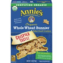 Crackers: Annie's Whole Wheat Bunnies