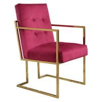 Abbyson Ethan Velvet Arm Chair