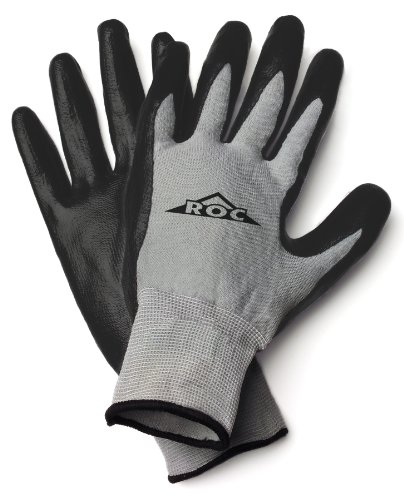 ROC10TM The Roc Nitrile Coated Palm, Grey Nylon Shell Glove - Medium