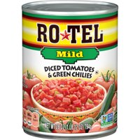 (4 Pack) RO*TEL Mild Diced Tomatoes and Green Chilies, 28 Ounce