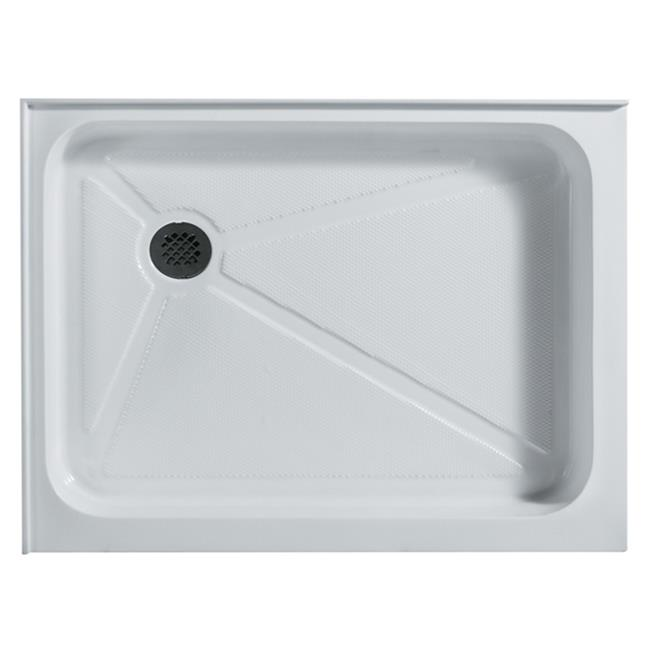 Vigo VG06019WHT3648L 36'' x 48'' Rectangular Shower Tray White Left Drain by Vigo Industries