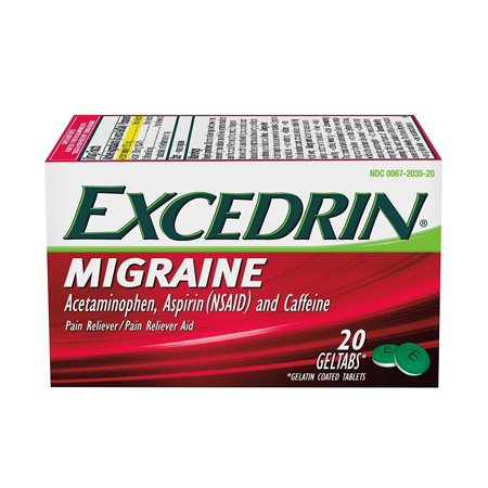 Excedrin Migraine Pain Relief Gel Tabs 20 count for Migraine