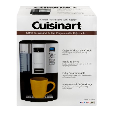 Cuisinart Coffee on Demand 12-Cup Programmable Coffeemaker, Black/Chrome DCC-3000