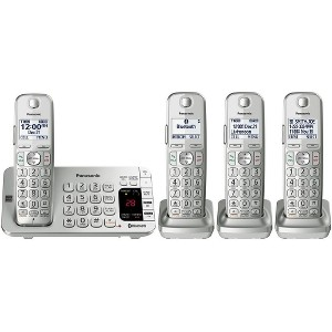 Panasonic Link2Cell Cordless Phone with Large Keypad, 4 Handsets