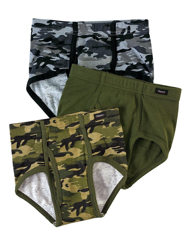 Hanes Boys' Ultimate Brief With Comfortsoft&Reg; Waistband Assorted 3-Pack