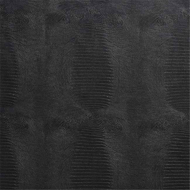 Designer Fabrics G015 54 inch Wide Black, Textured Alligator Faux Leather Vinyl Fabric