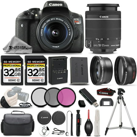 Canon EOS Rebel T6i SLR Camera + 18-55mm STM Lens + ULTIMATE Accessory -