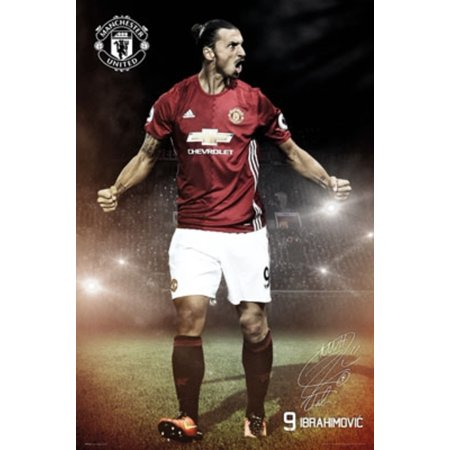 Manchester United Zlatan Ibrahimovic 16 17 Soccer Football Sports Poster 24X36 Inch