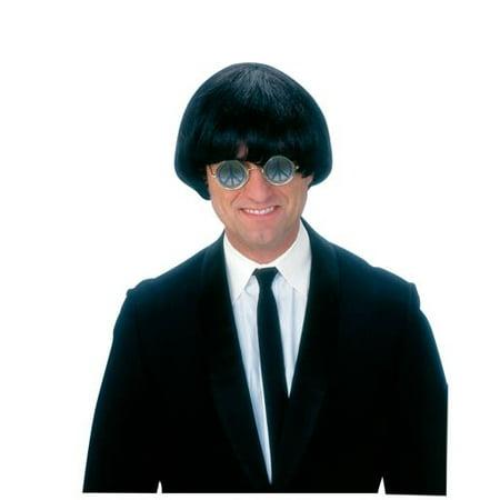 Beatles Adult Wig Mop Top John Paul George Ringo Sonny Short Yeah Yeah - Mens Short Black Wig