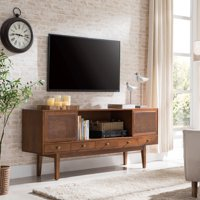 Holly & Martin Simms Midcentury Modern Media Console, Multiple Finishes