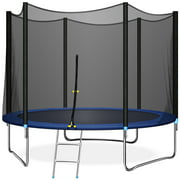 TRIPLE TREE 10 FT Trampoline with Safe Enclosure Net, 661 lbs Capacity for 3-4 Kids, Outdoor Fitness Trampoline with Waterproof Jump Mat Ladder for Indoor Park Kindergarten Toddler Trampolines