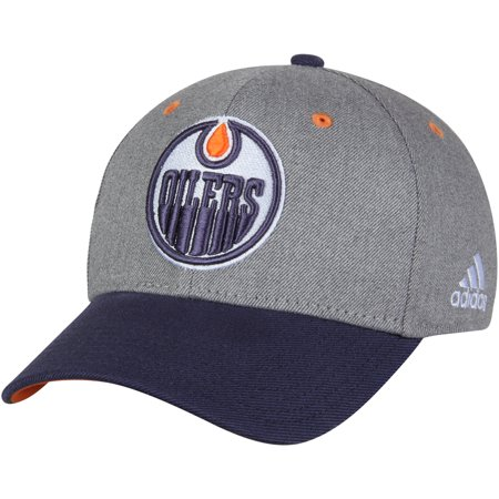 Edmonton Oilers adidas Two-Tone Structured Adjustable Hat - Gray ... d543aa57269