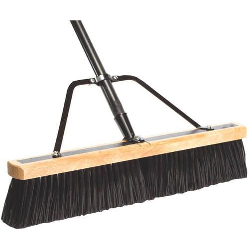 "DQB Industries 24"" Push Broom with Handle & Brace by Dqb Industries"