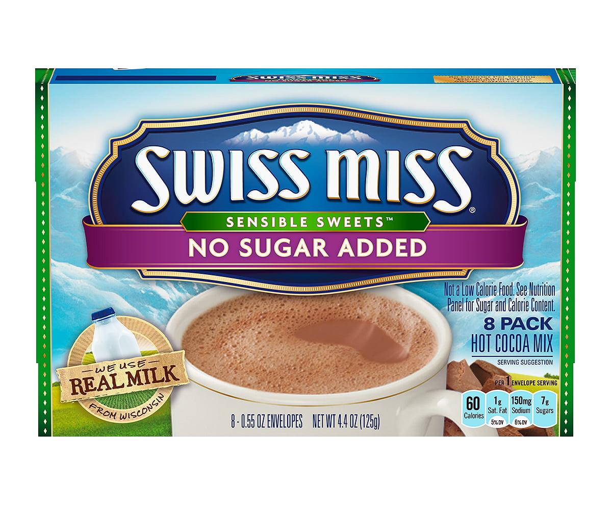 Swiss Miss Sensible Sweets No Sugar Added Hot Cocoa Mix Envelopes ...