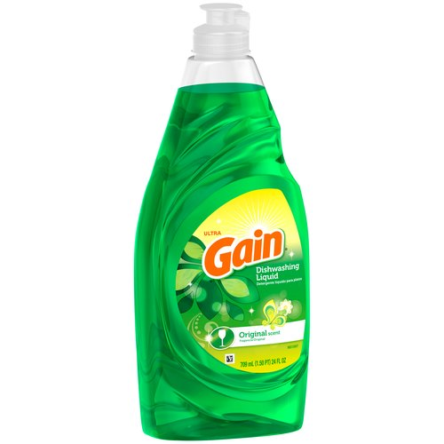 Gain Ultra Original Scent Dishwashing Liquid, 24 fl oz