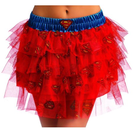 DC Comics Supergirl Tutu Costume Skirt Adult Standard - Supergirl Costume Adult