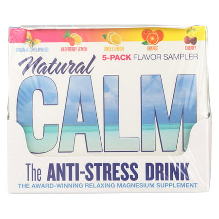 - Natural Vitality Calm Counter Display - Assorted Flavors - Case of 8 - 5 Packs