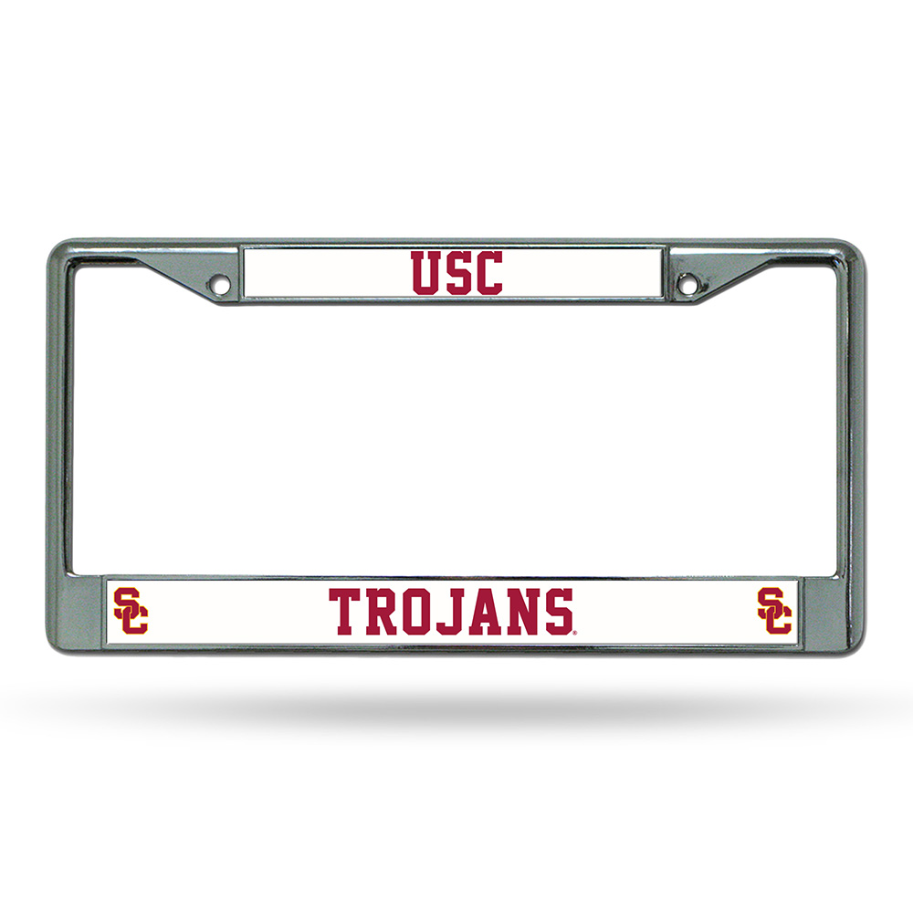 usc chrome license plate frame walmartcom