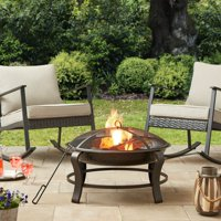 Deals on Mainstays Owen Park 28 inch Round Wood Burning Fire Pit