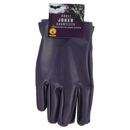 Morris Costume Batman Dark Knight Joker Polyester Gloves Purple One Size, Style RU8228 for $<!---->