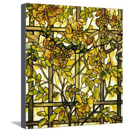 Trumpet Vine Leaded Glass Window Stretched Canvas Print Wall Art By Tiffany (Tiffany Studios)
