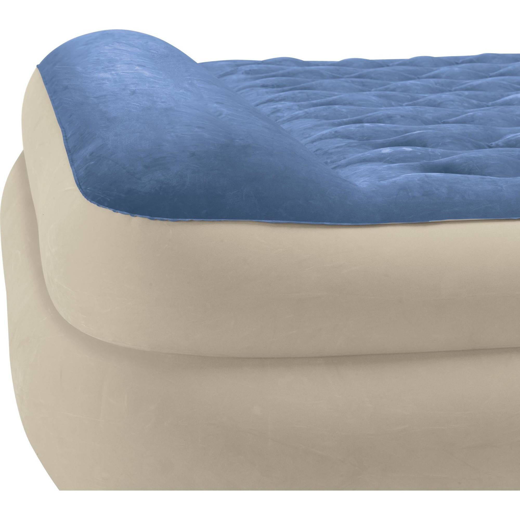 Intex Queen 18 Raised Pillow Rest Airbed Mattress Walmart Com