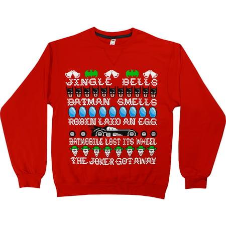 DC Comics Batman Jingle Bells Men's Christmas Sweatshirt (Batman Christmas)