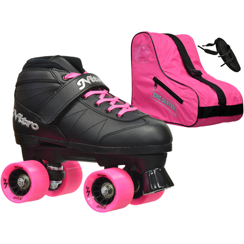 Epic Adult Super Nitro Pink Quad Speed Skates Package by Epic Skates