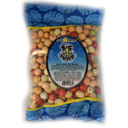 Image of Aloha Gourmet Big Pounder of Mix Mochi Balls 1 pound Jumbo bag