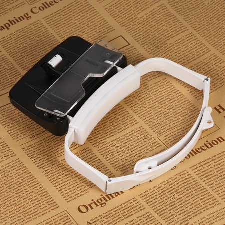 TH9203 Headband Magnifier Glasses LED Magnifying Head Mount Magnifier Interchangeable Loupe 5 Replaceable Lenses 1.0X/1.5X/2.0X/2.5X/3.5X - image 3 de 7