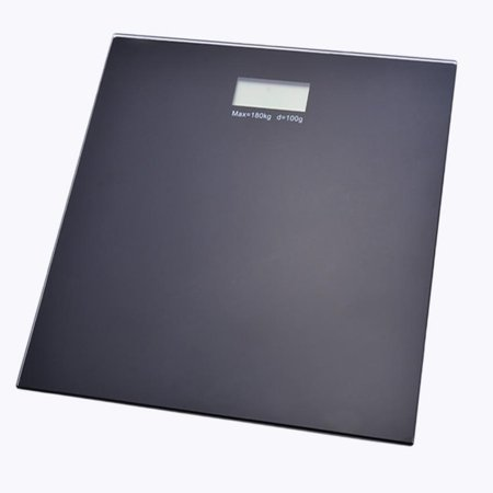400Lb Glass Fitness Digital Bath Scale Weight Body Scale Lcd Black
