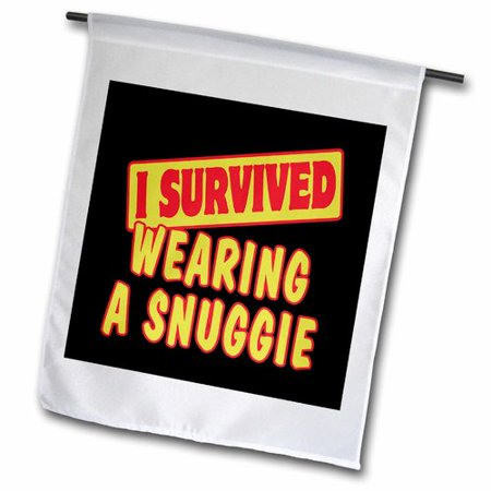 3dRose I Survived Wearing a Snuggie Survial Pride and Humor Design Polyester 2'3'' x 1'6'' Garden Flag (Snuggie Flag)