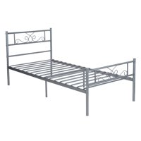 Cheerwing Easy Set-up Premium Metal Bed Frame Platform Box Spring Replacement with Headboard and Footboard, Multiple Sizes, Multiple Colors